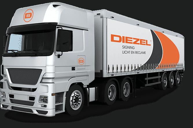 beletteren vrachtwagen